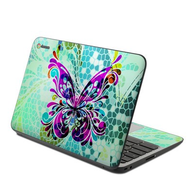 HP Chromebook 11 G4 Skin - Butterfly Glass