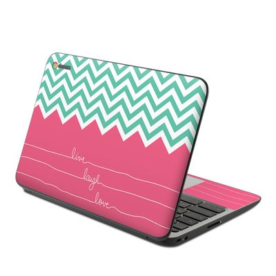 HP Chromebook 11 G4 Skin - Live Laugh Love