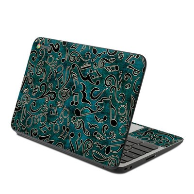 HP Chromebook 11 G4 Skin - Music Notes
