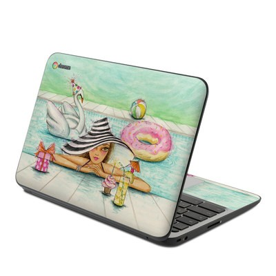 HP Chromebook 11 G4 Skin - Delphine at the Pool Party