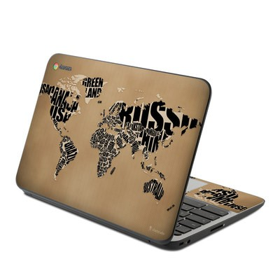 HP Chromebook 11 G4 Skin - Type Map
