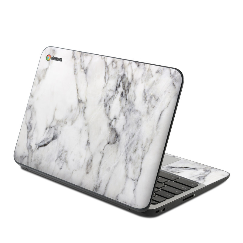 Hp Chromebook 11 G4 Skin White Marble By Marble