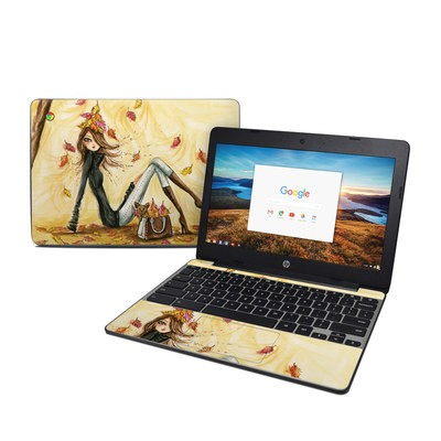 HP Chromebook 11 G5 Skin - Autumn Leaves