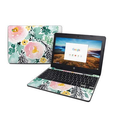 HP Chromebook 11 G5 Skin - Blushed Flowers