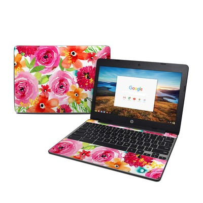 HP Chromebook 11 G5 Skin - Floral Pop