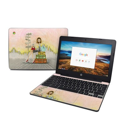HP Chromebook 11 G5 Skin - The Jet Setter