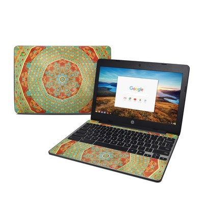 HP Chromebook 11 G5 Skin - Mandala Citrus