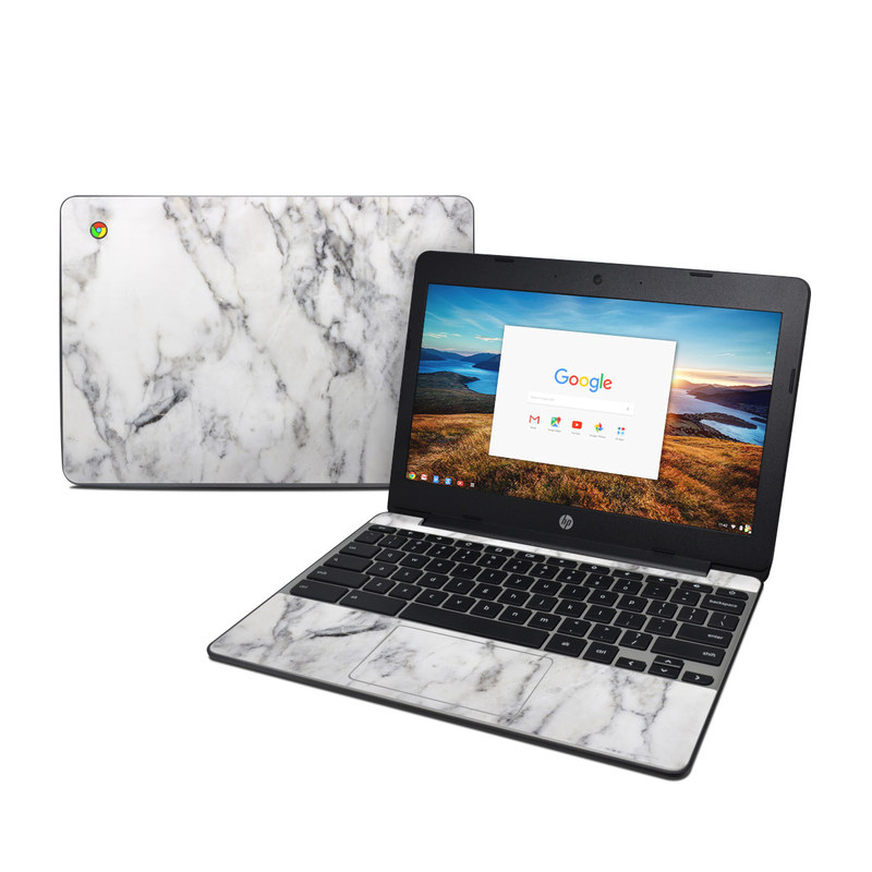 Hp Chromebook 11 G5 Skin White Marble By Marble