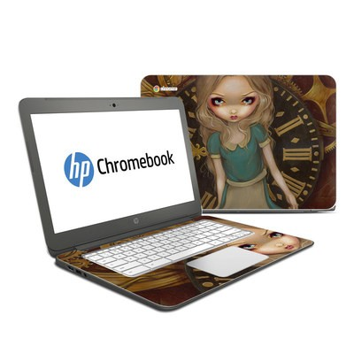 HP Chromebook 14 G4 Skin - Alice Clockwork
