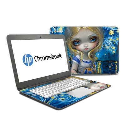 HP Chromebook 14 Skin - Alice in a Van Gogh