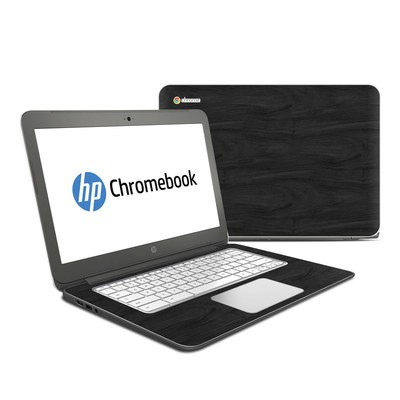 HP Chromebook 14 Skin - Black Woodgrain