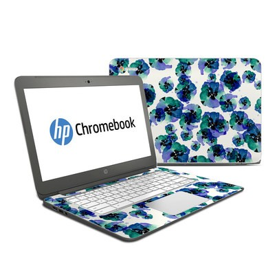 HP Chromebook 14 Skin - Blue Eye Flowers