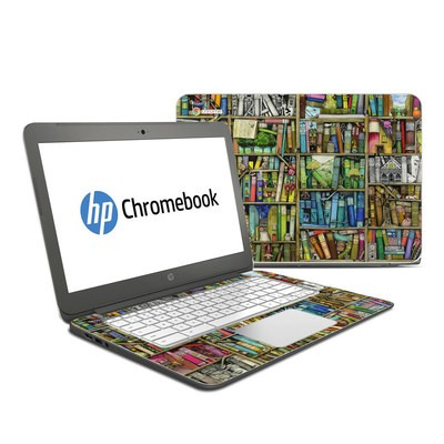 HP Chromebook 14 Skin - Bookshelf