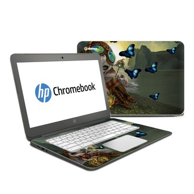 HP Chromebook 14 G4 Skin - Clockwork Dragonling