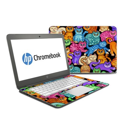 HP Chromebook 14 Skin - Colorful Kittens