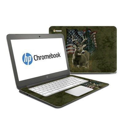 HP Chromebook 14 G4 Skin - Deer Flag