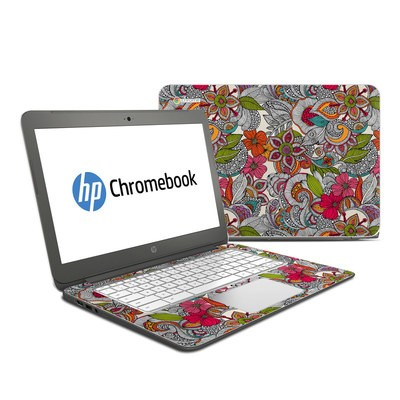 HP Chromebook 14 Skin - Doodles Color
