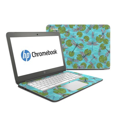 HP Chromebook 14 Skin - Dragonflies Over Pond