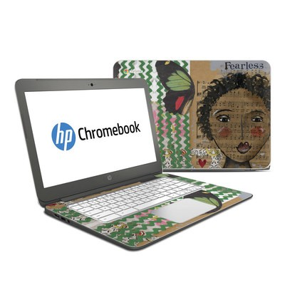 HP Chromebook 14 Skin - Fearless Heart