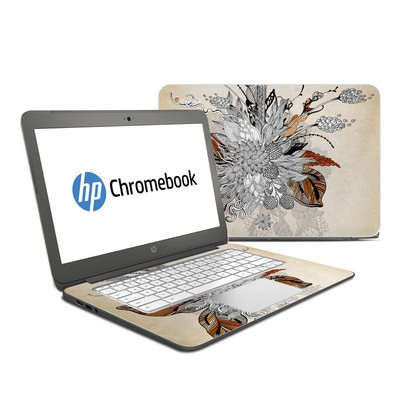 HP Chromebook 14 Skin - Fall Floral