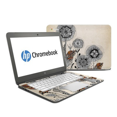 HP Chromebook 14 G4 Skin - Four Flowers