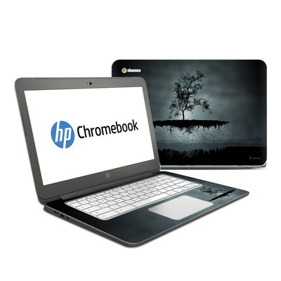 HP Chromebook 14 Skin - Flying Tree Black