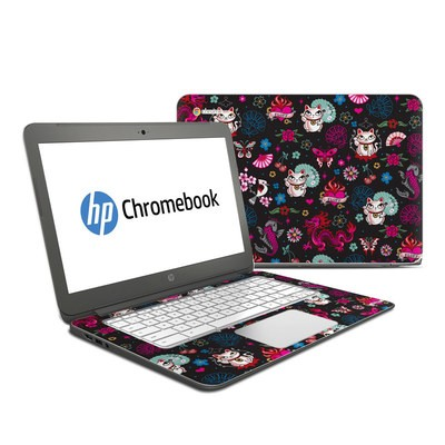 HP Chromebook 14 Skin - Geisha Kitty