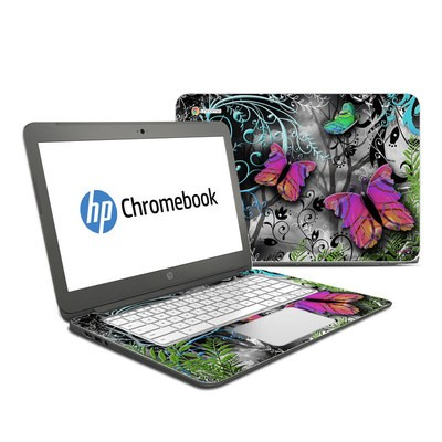 HP Chromebook 14 Skin - Goth Forest