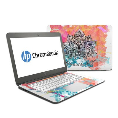 HP Chromebook 14 G4 Skin - Happy Lotus