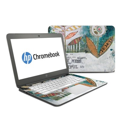 HP Chromebook 14 Skin - Holy Mess