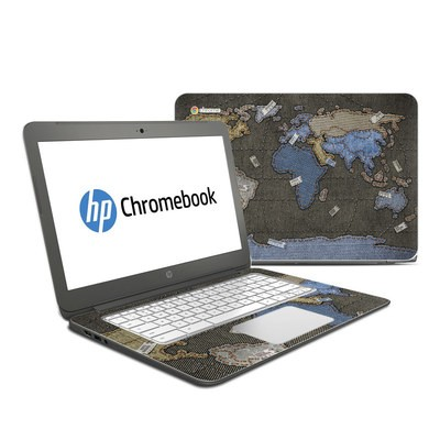 HP Chromebook 14 Skin - Jean Map