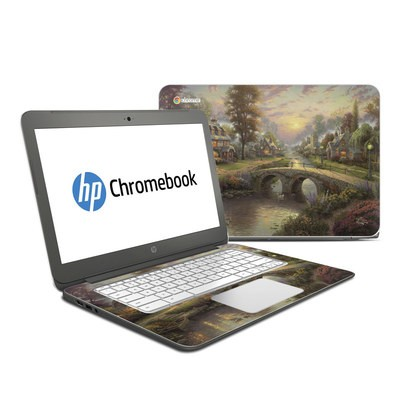 HP Chromebook 14 Skin - Sunset On Lamplight Lane
