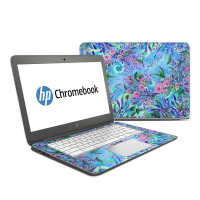 HP Chromebook 14 G4 Skin - Lavender Flowers