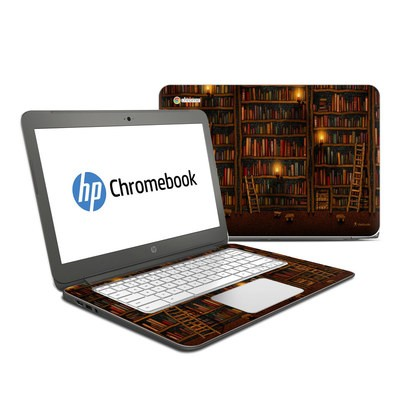HP Chromebook 14 Skin - Library