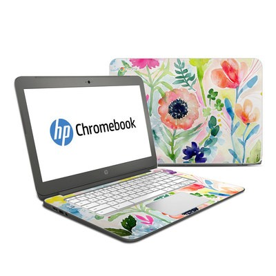 HP Chromebook 14 G4 Skin - Loose Flowers