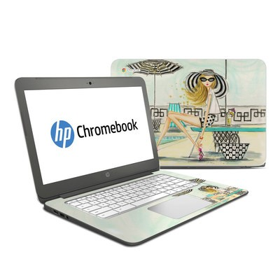 HP Chromebook 14 Skin - Luxe Retreat Poolside