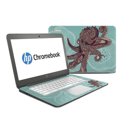 HP Chromebook 14 G4 Skin - Octopus Bloom
