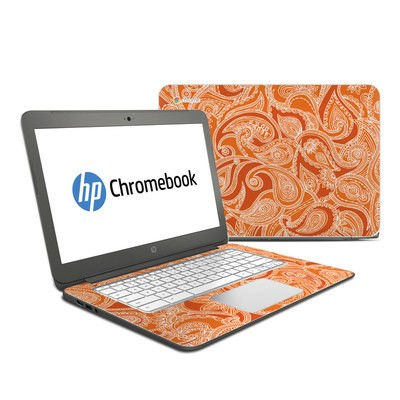 HP Chromebook 14 G4 Skin - Paisley In Orange