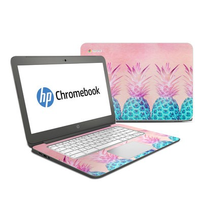HP Chromebook 14 Skin - Pineapple Farm