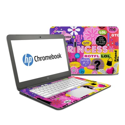 HP Chromebook 14 Skin - Princess Text Me