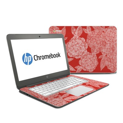 HP Chromebook 14 Skin - Red Dahlias