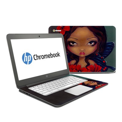 HP Chromebook 14 Skin - Red Hibiscus Fairy