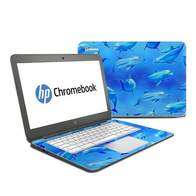 HP Chromebook 14 Skin - Swimming Dolphins