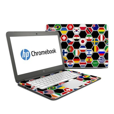 HP Chromebook 14 Skin - Soccer Flags