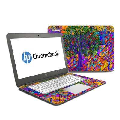 HP Chromebook 14 Skin - Stained Glass Tree