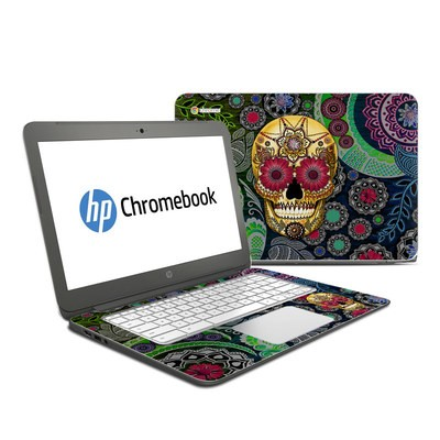 HP Chromebook 14 Skin - Sugar Skull Paisley