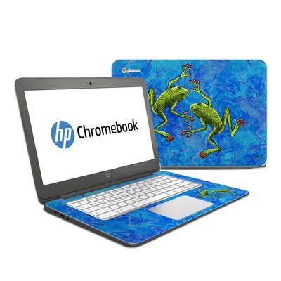 HP Chromebook 14 Skin - Tiger Frogs