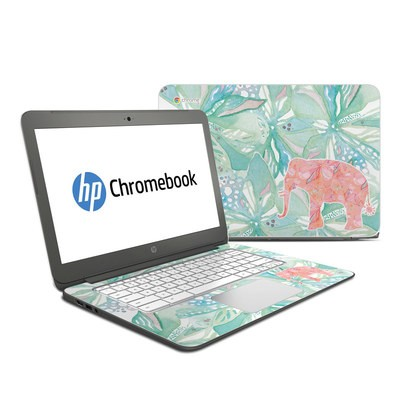 HP Chromebook 14 Skin - Tropical Elephant