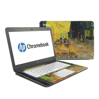 HP Chromebook 14 G4 Skin - Cafe Terrace At Night