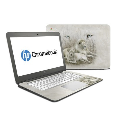 HP Chromebook 14 Skin - White Lion